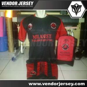Pesanan Kostum Futsal Komunitas Milanisti Kalimantan Timur