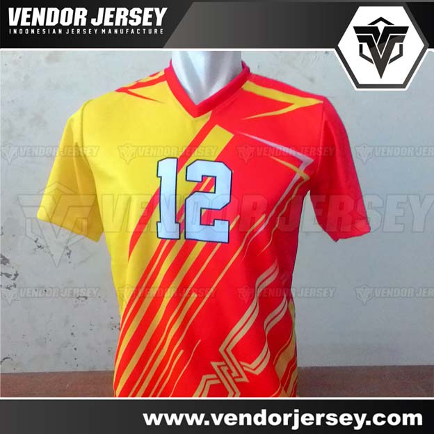 Pembuatan Jersey Kaos Voli Printing