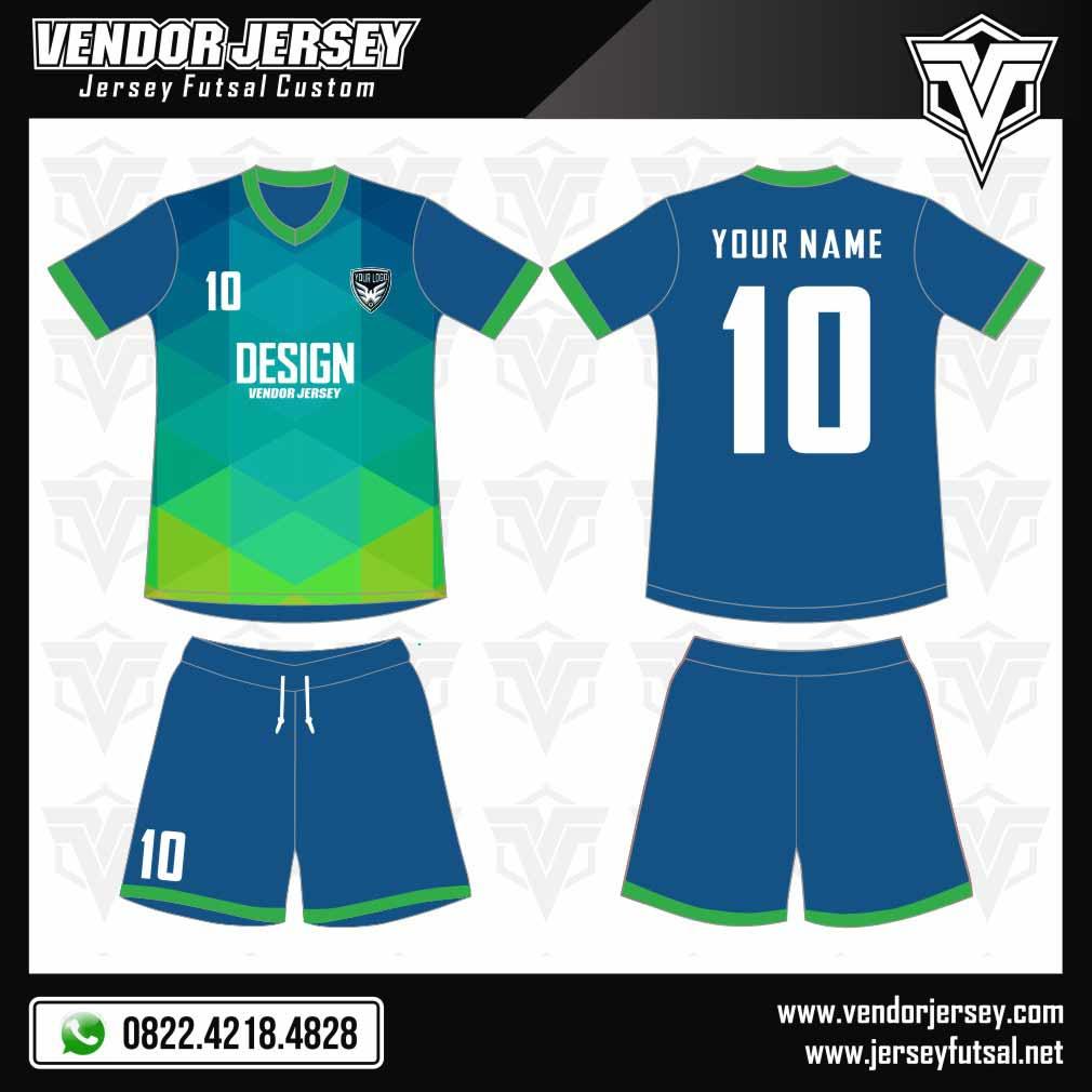 desain baju futsal abstract