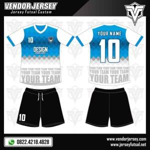 Desain Baju Futsal Millennium Green And Blue
