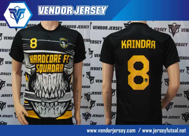 Bikin Jersey Seragam Futsal printing Gambar Motif Tengkorak