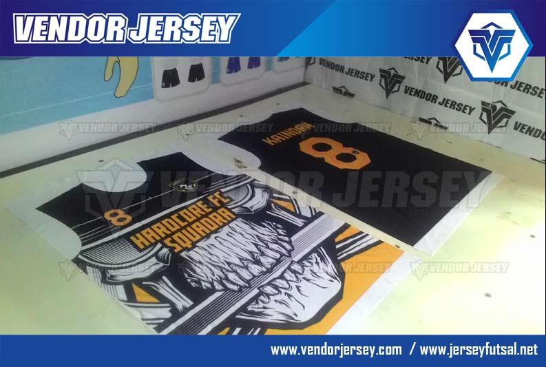 Buat Kaos Futsal printing gambar tengkorak
