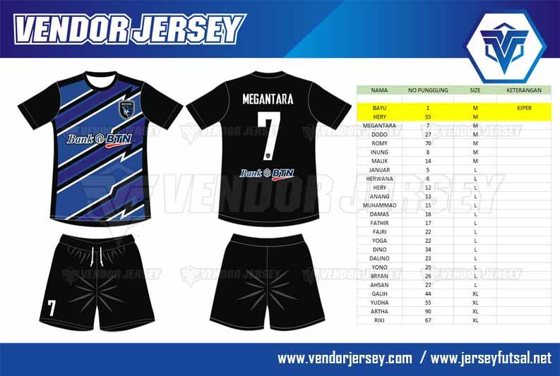 Desain Kaos Olahraga Futsal Bank BTN
