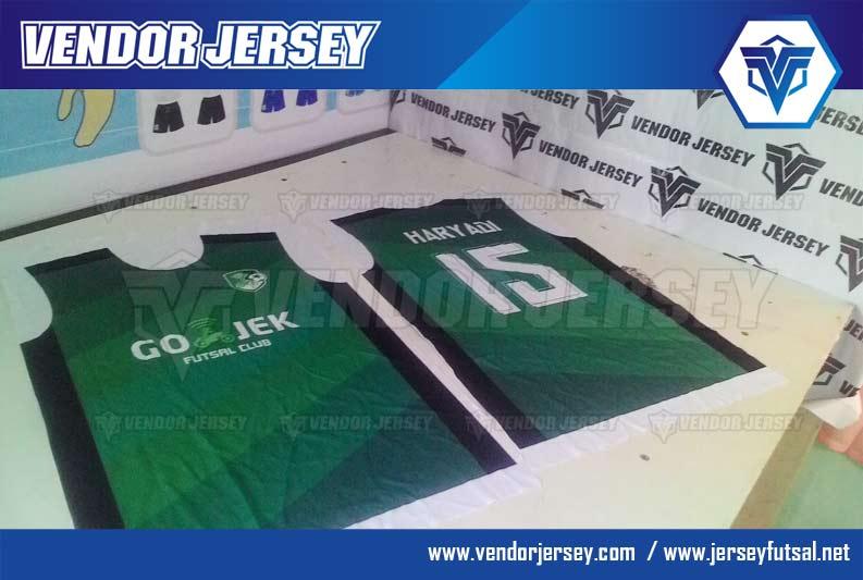 Pembuatan Jersey / Kaos Futsal Gojek