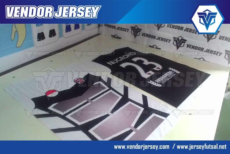 Pembuatan Kaos Futsal Motif Gradasi