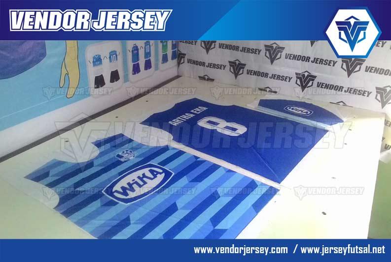 Produksi Pembuatan Baju Futsal Pesanan PT Wika