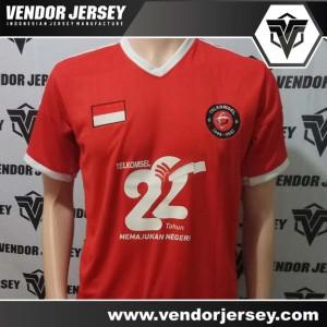 Pembuatan Baju Olahraga Futsal Acara Ulang Tahun Telkomsel