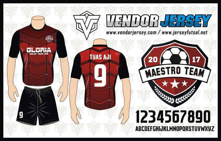 desain-kostum-futsal-terbaru-motif-gradsi-merah-hitam