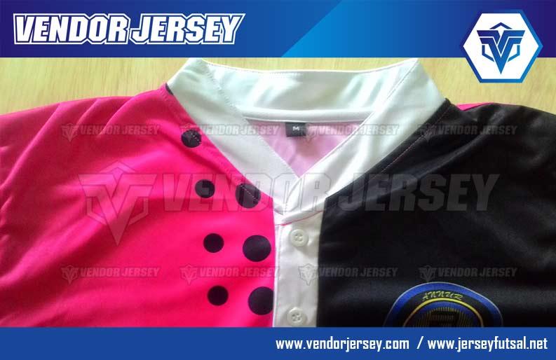 Kerah jersey Shanghai Dengan Kancing Seperti Baju Koko