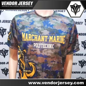 Pembuatan Baju Olahraga Printing Sekolah Pelayaran / Kelautan