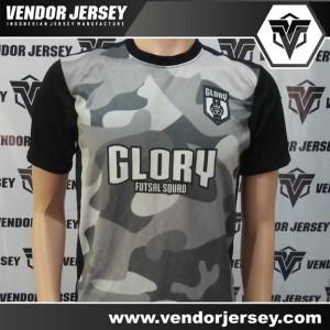 Pembuatan Kostum Tim Futsal Glory Dengan Motif Loreng
