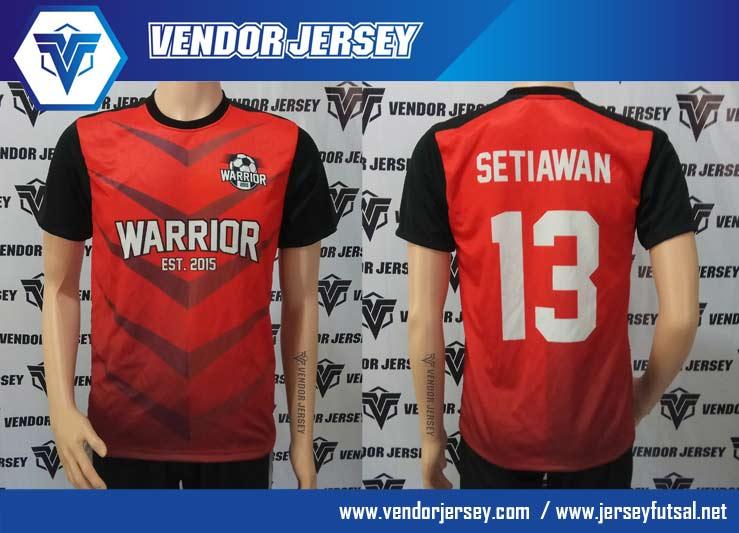 pembuatan Seragam Tim Futsal Warrior depan belakang