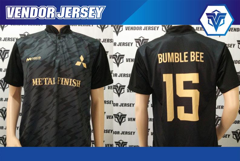 Bikin Jersey Futsal printing Karyawan Mitsubishi Dengan Kerah Shanghai