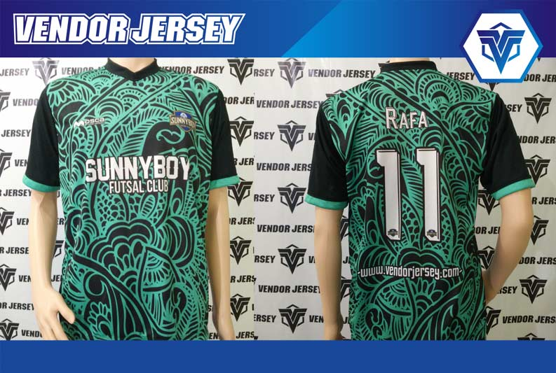 Bikin Jersey Sunny Boy Futsal Motif Batik