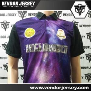 Order Bikin Kostum Futsal Motif Galaxi Dengan Logo Bordir