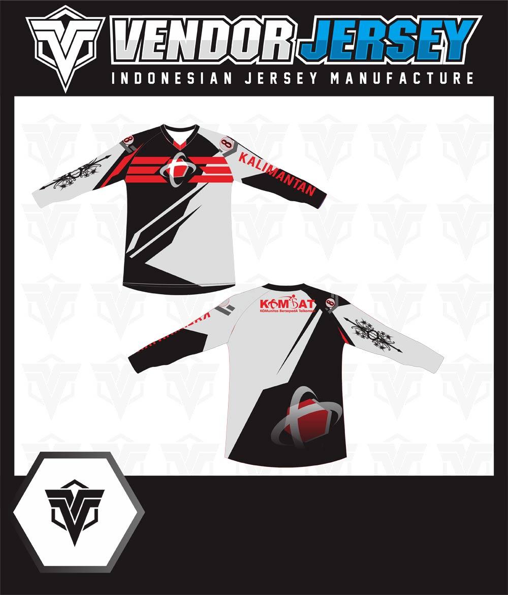 Produksi Pembuatan Baju Sepeda Telkomsel Dari Kalimantan