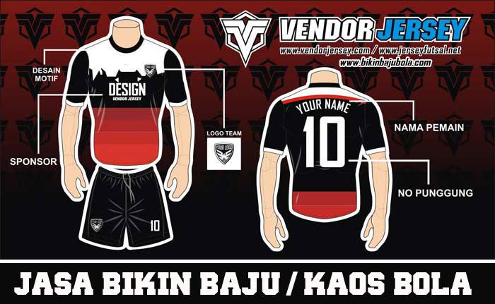 bikin Baju Futsal Beragam Pilihan Warna, Tulisan dan Logo