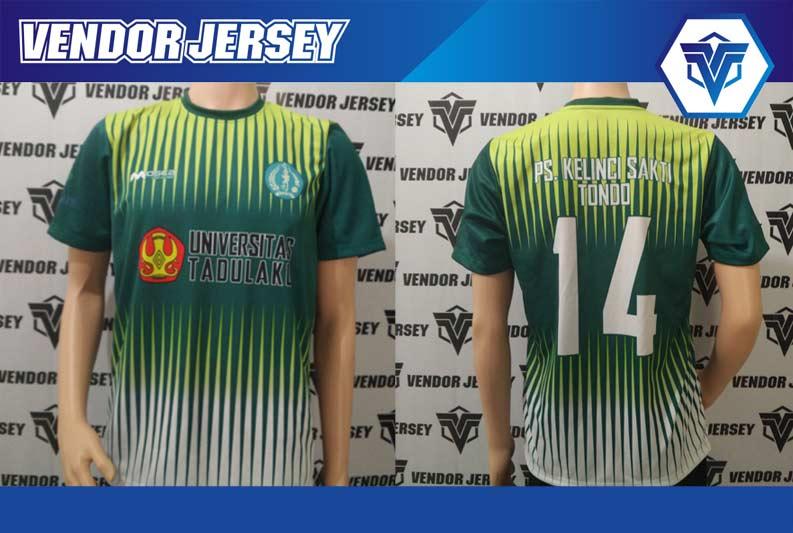 bikin Baju Futsal Pesanan Dari Universitas Tadulako Palu Sulawesi Tengah