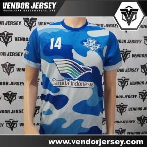 Bikin Kostum Untuk Tim Futsal Warna Loreng Biru