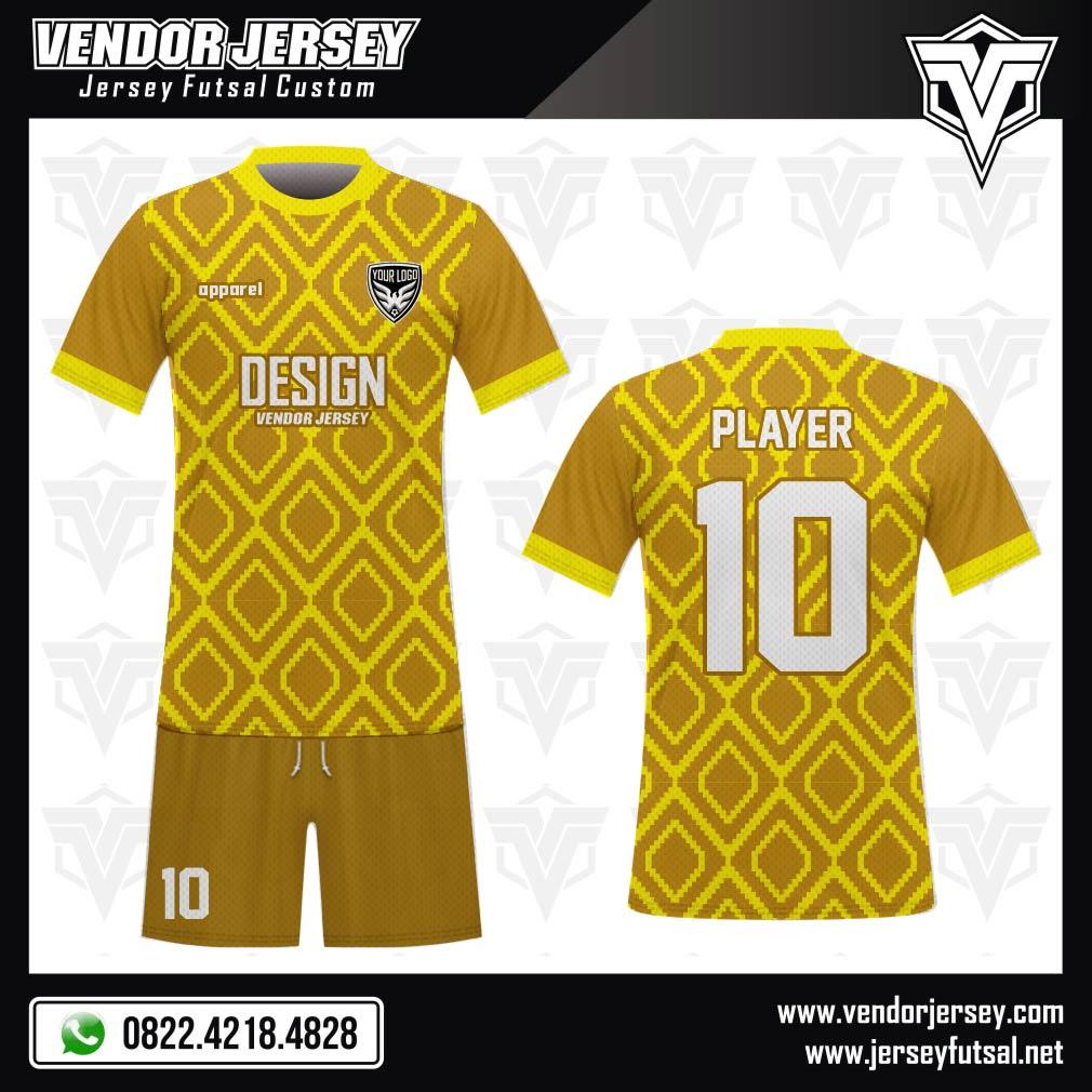 desain baju futsal terkeren kuning