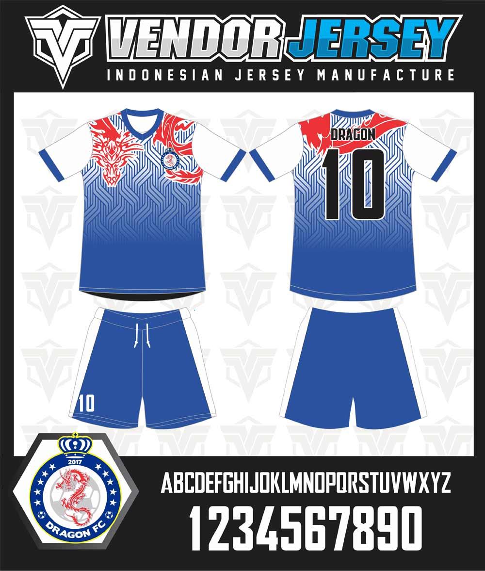 pembuatan seragam futsal Dragon FC gambar naga