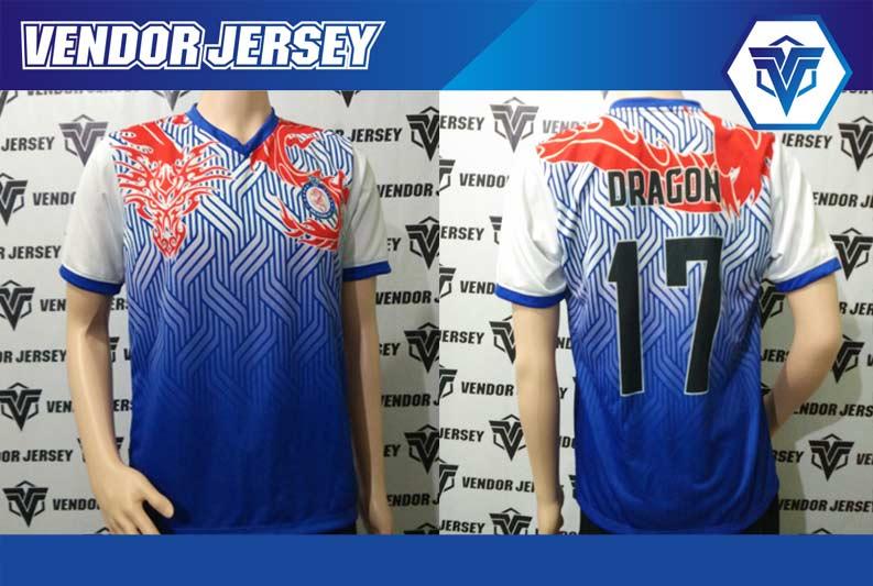 pembuatan seragam futsal Dragon FC motif naga