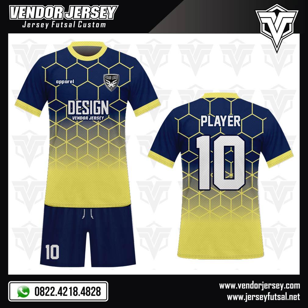 Desain Kaos Sepakbola Code Blustrack Gradasi Yang Menawan