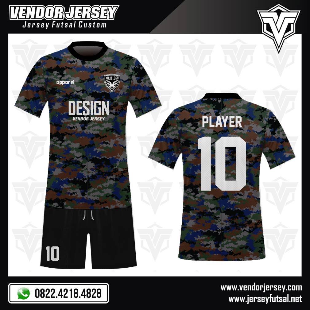 Desain Kaos Sepakbola Code Camosea Motif Doreng