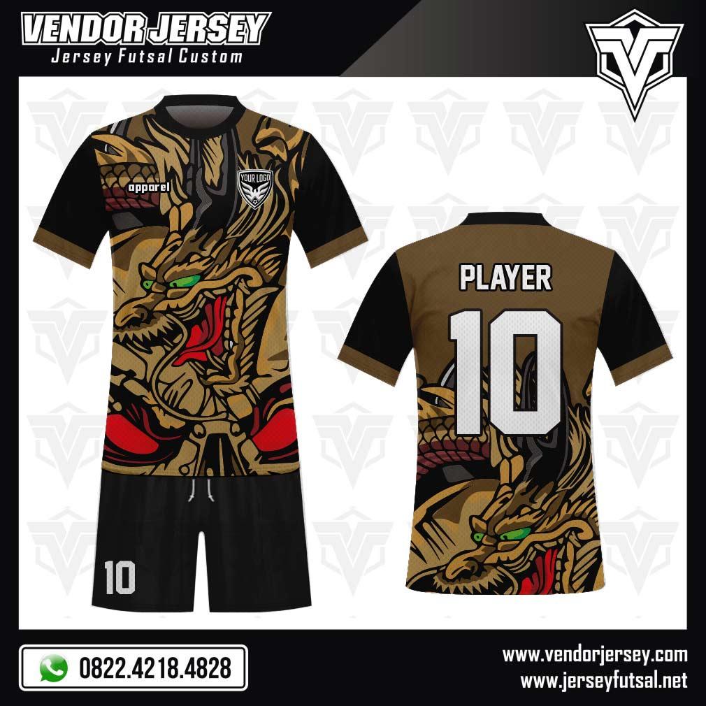 Desain Baju Futsal Code Dragonking Gambar Naga