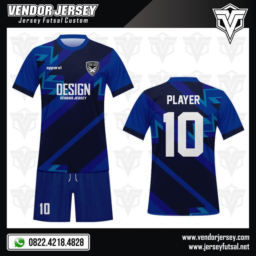 Desain Baju Futsal Code Fifablu Biru Yang Elegan