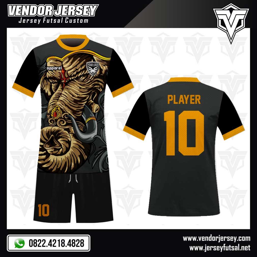 Desain Baju Bola Futsal Code Ganesh Gambar Gajah Yang Sangar