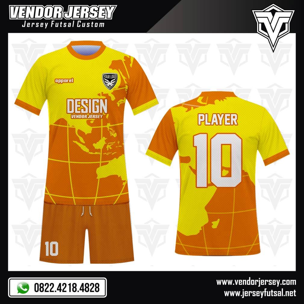 Desain Baju Sepakbola Code Globes, Kuning Orange Bikin Kamu Terpikat