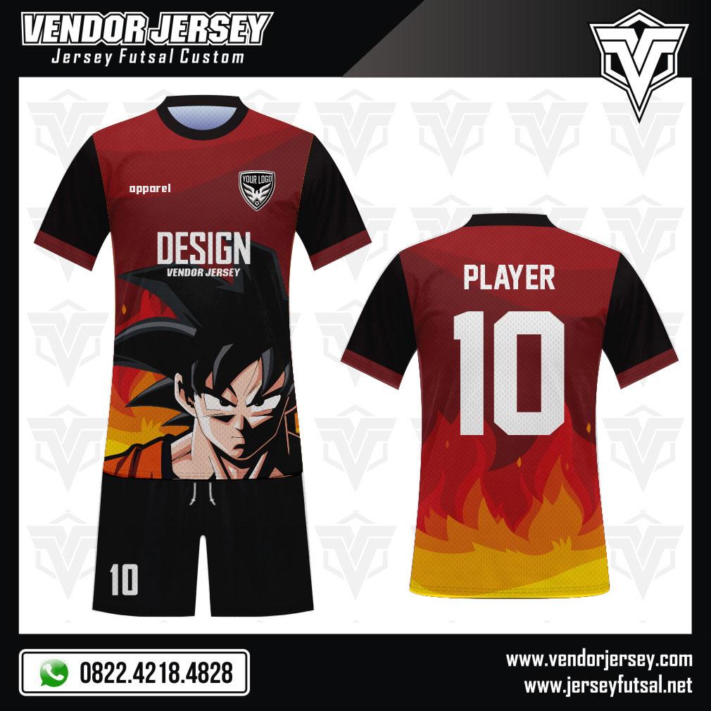 Desain Baju Sepakbola Code Goku Gambar Son Goku