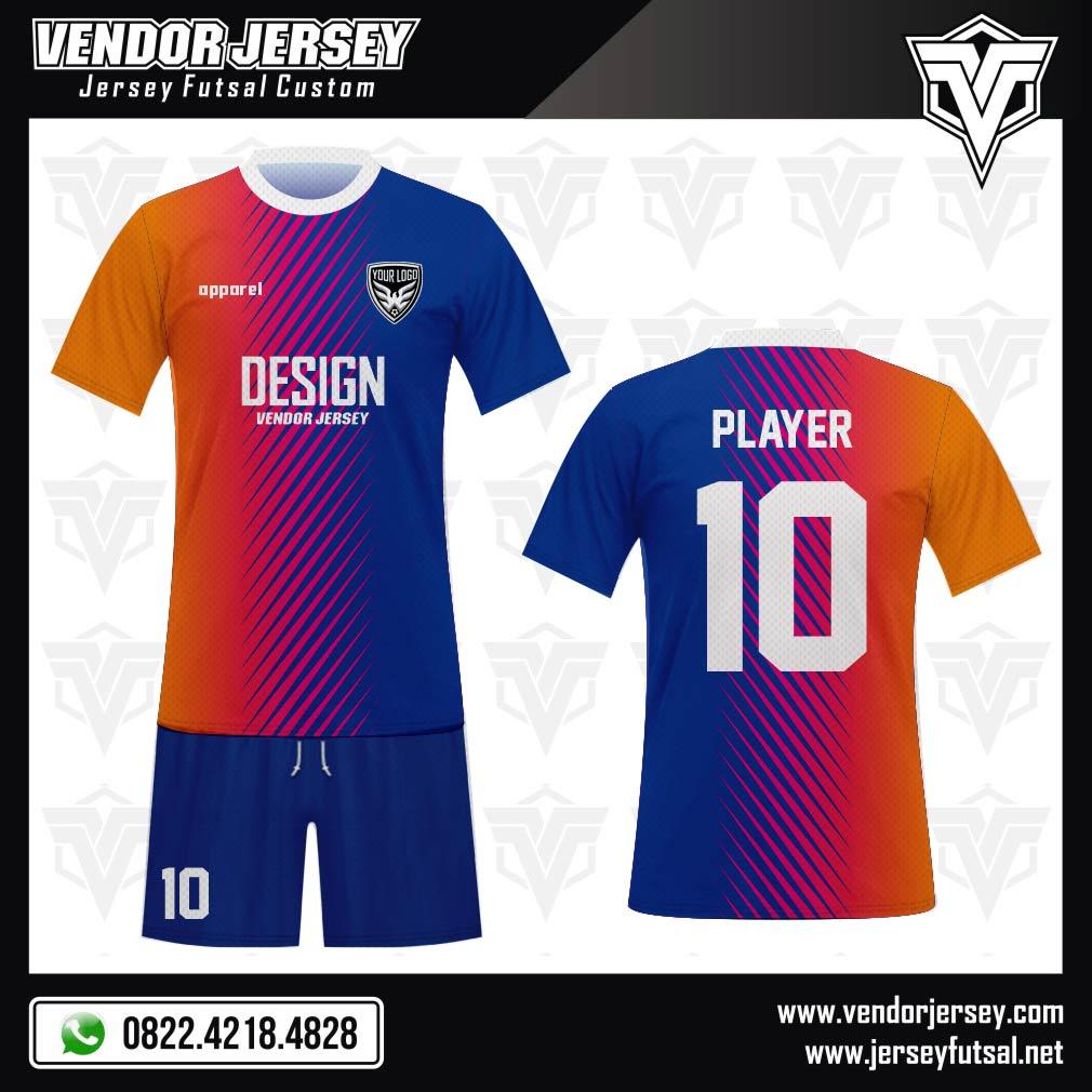 Desain Jersey Futsal Code Gracolore Gradasi Warna Keren