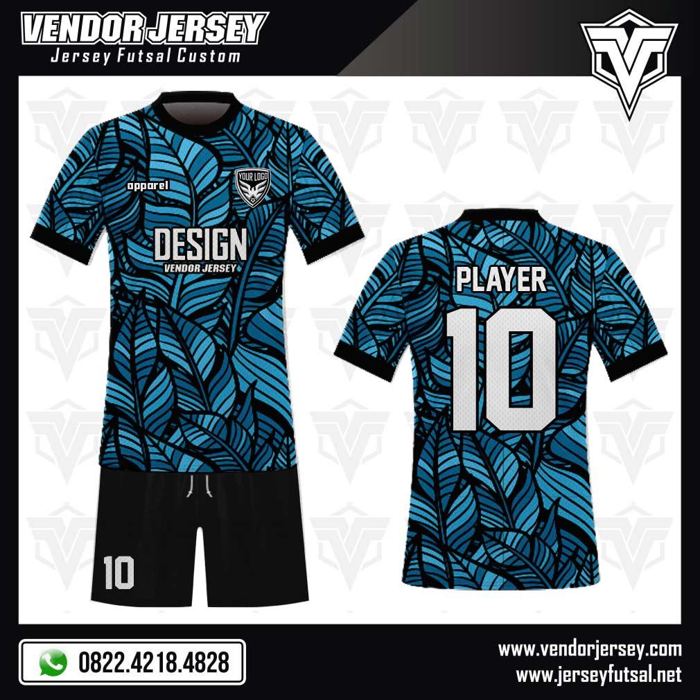 Desain Jersey Bola Futsal Code Leafgrin Bergambar Daun