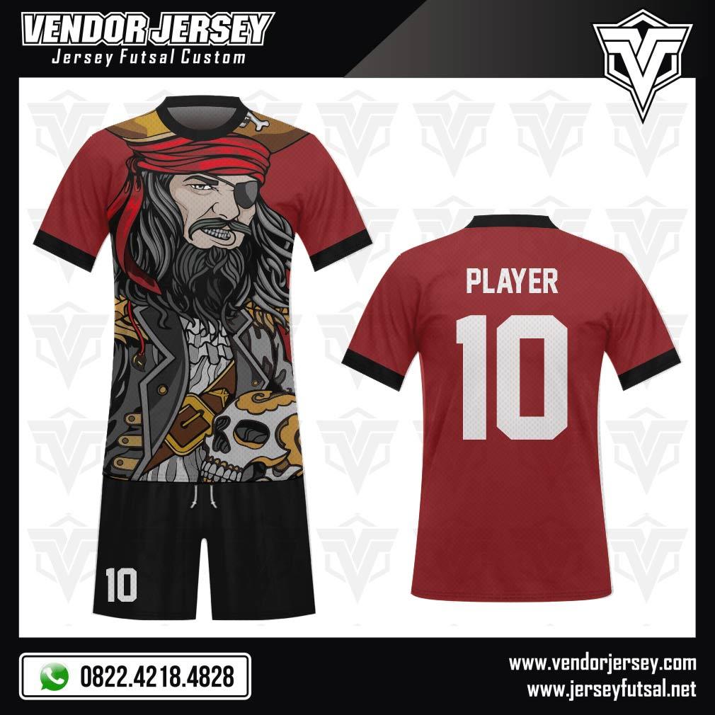 Desain Kostum Futsal Code Pirates Gambar Bajak Laut