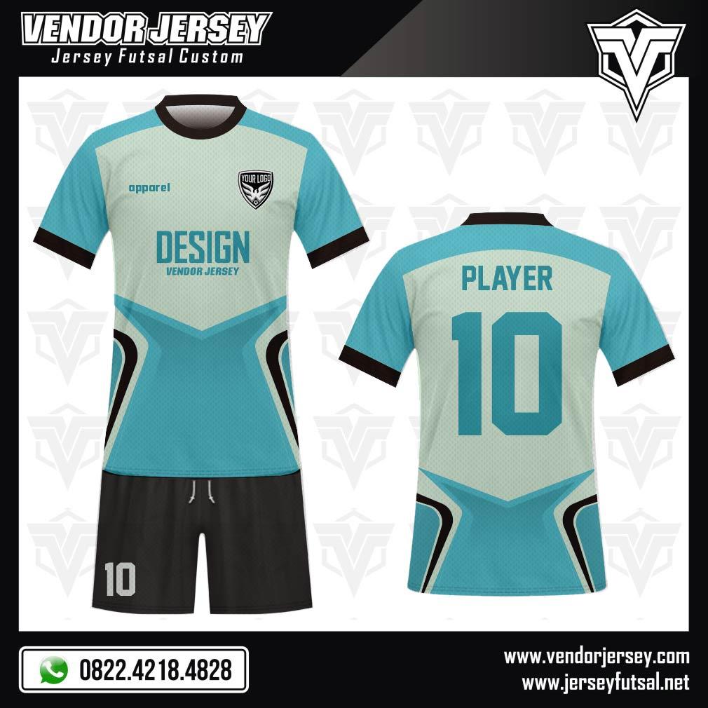 Desain Kostum Futsal Code Playspeed Modern dan Stylist