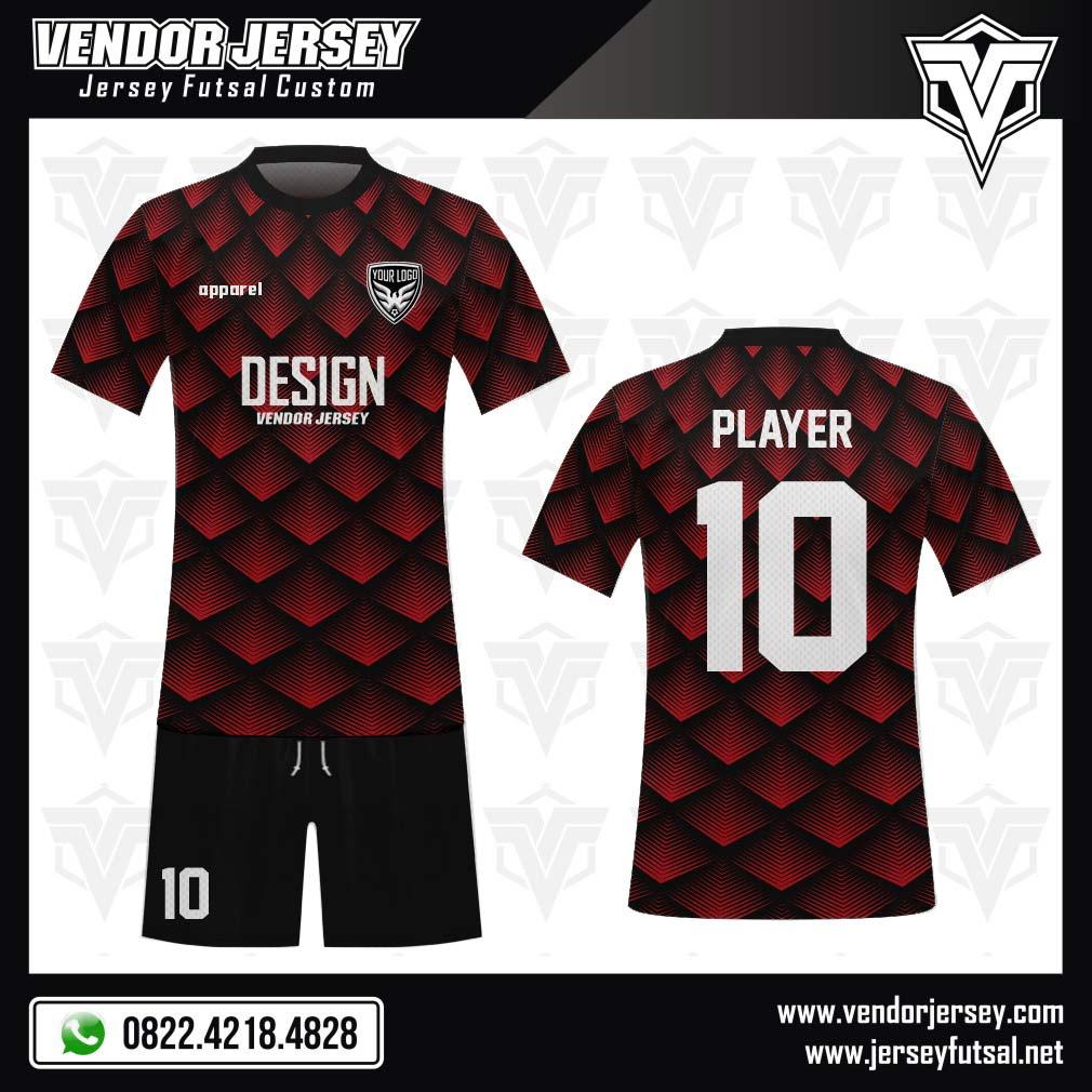 Desain Kostum Sepakbola Code Redison Tiga Dimensi