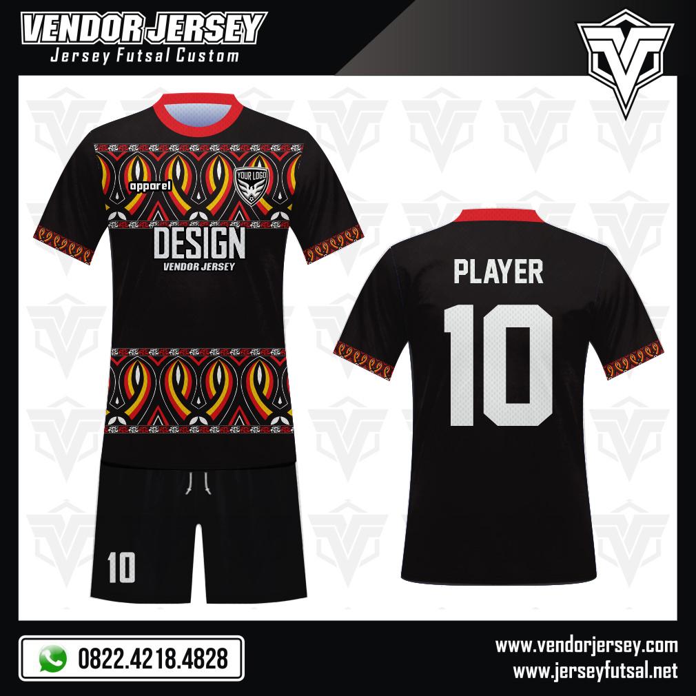 Desain Seragam Sepakbola Code Toraja Motif Tradisional