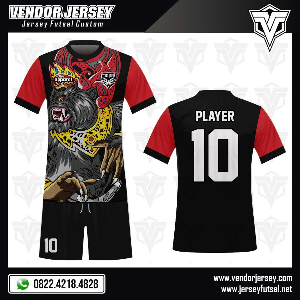 Desain Kaos Futsal Code Wanara Gambar Kera / Monyet