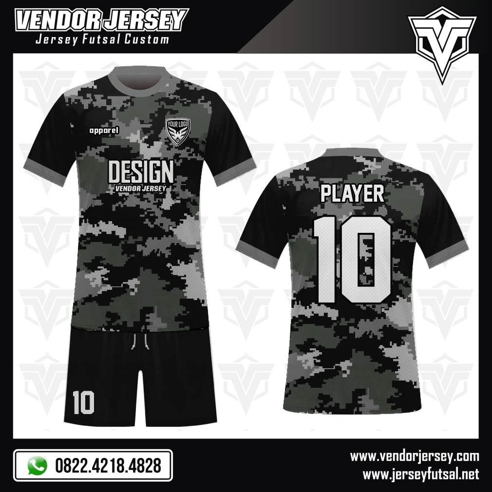 Pesan Desain Kaos Bola Futsal Code Black Army