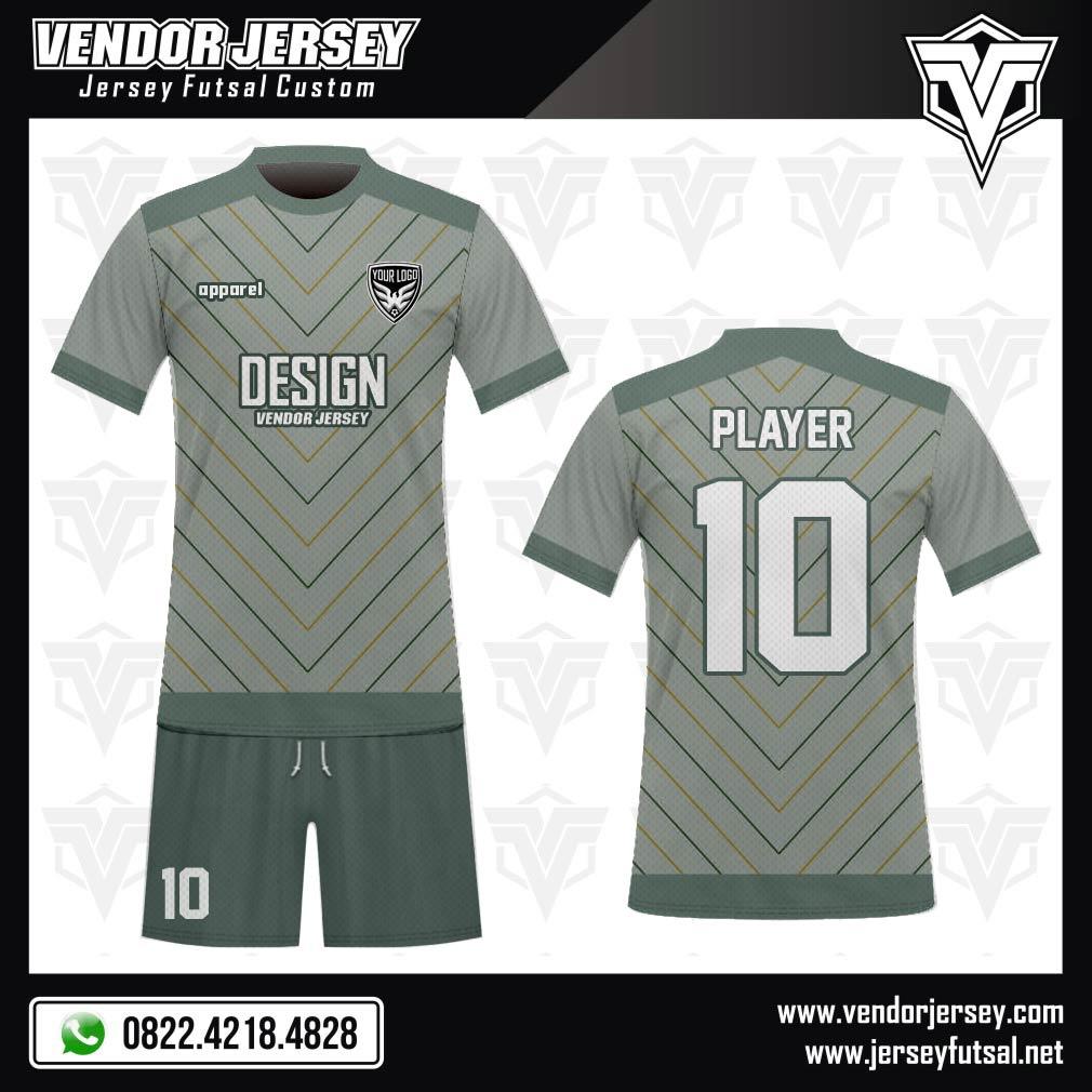 Desain Kostum Futsal Code Zigo Warna Abu Abu Yang Gagah