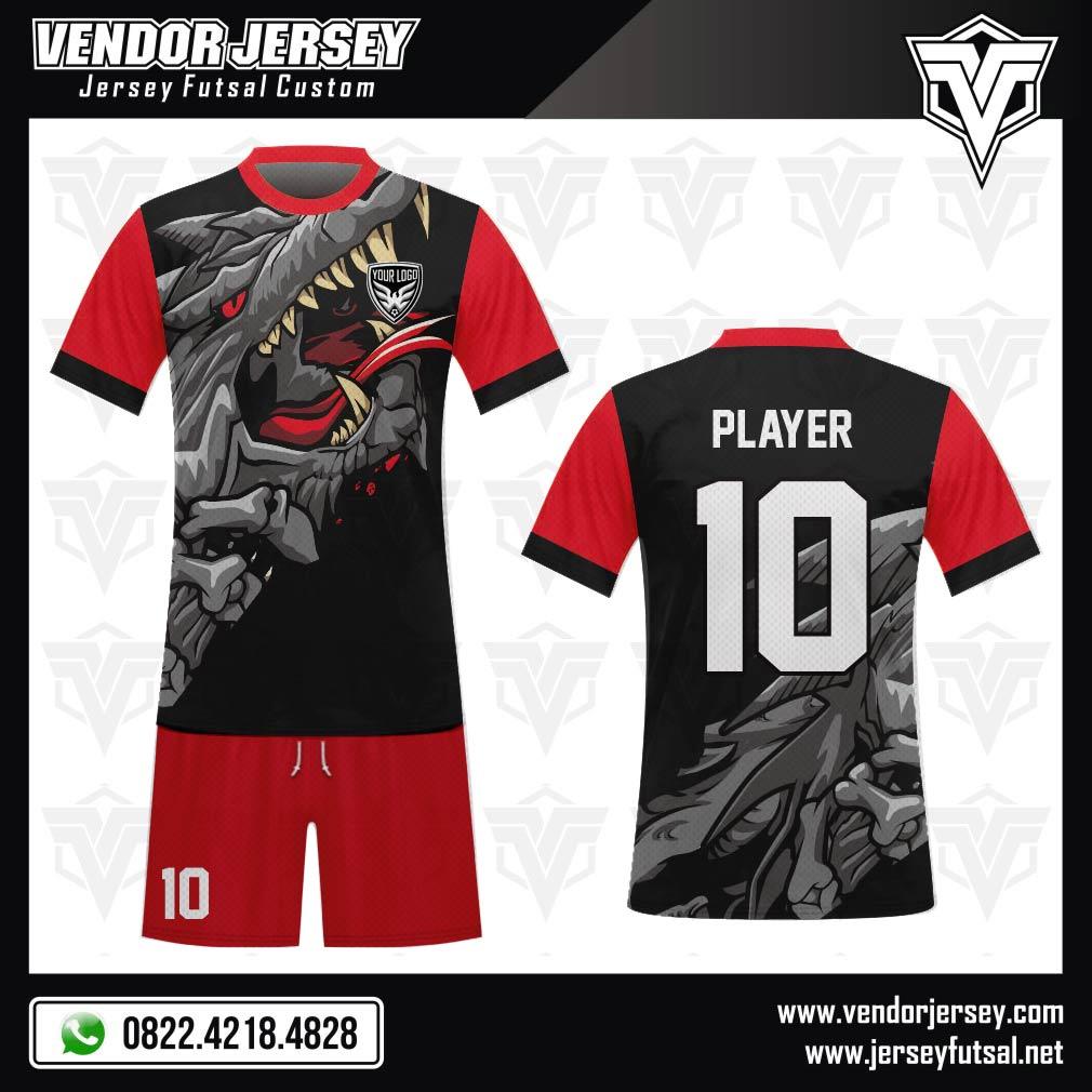Desain Baju Futsal Code Dragon Attack Tampil Menyerang
