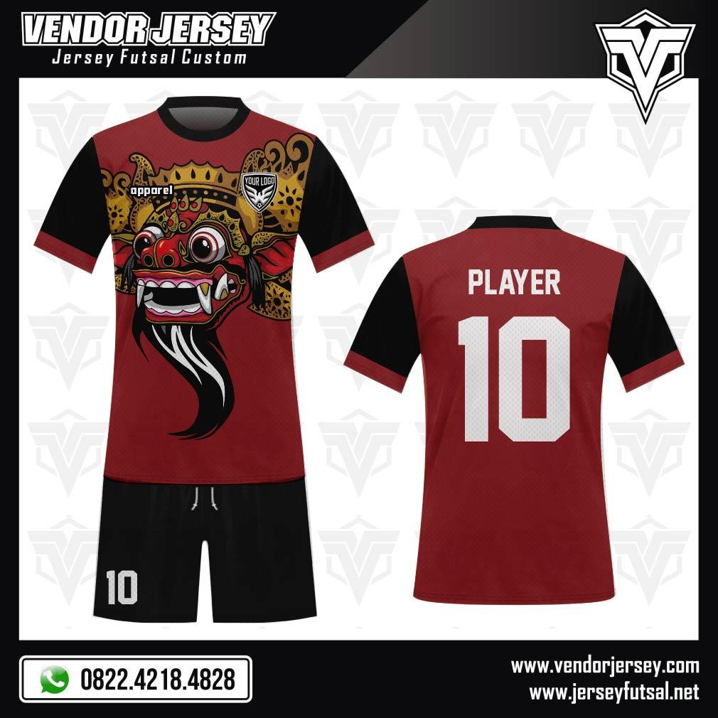 Desain Kaos Futsal Gambar Kepala Barong