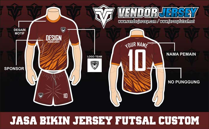 Desain Baju Futsal Keren Pilihan Terbaik
