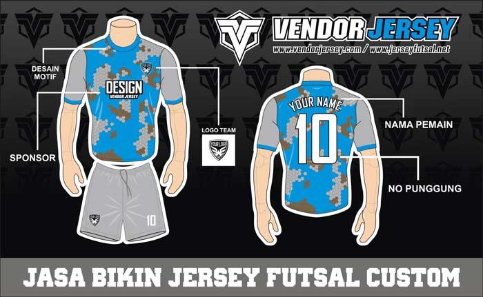 Jasa Desain Kostum Futsal Jersey