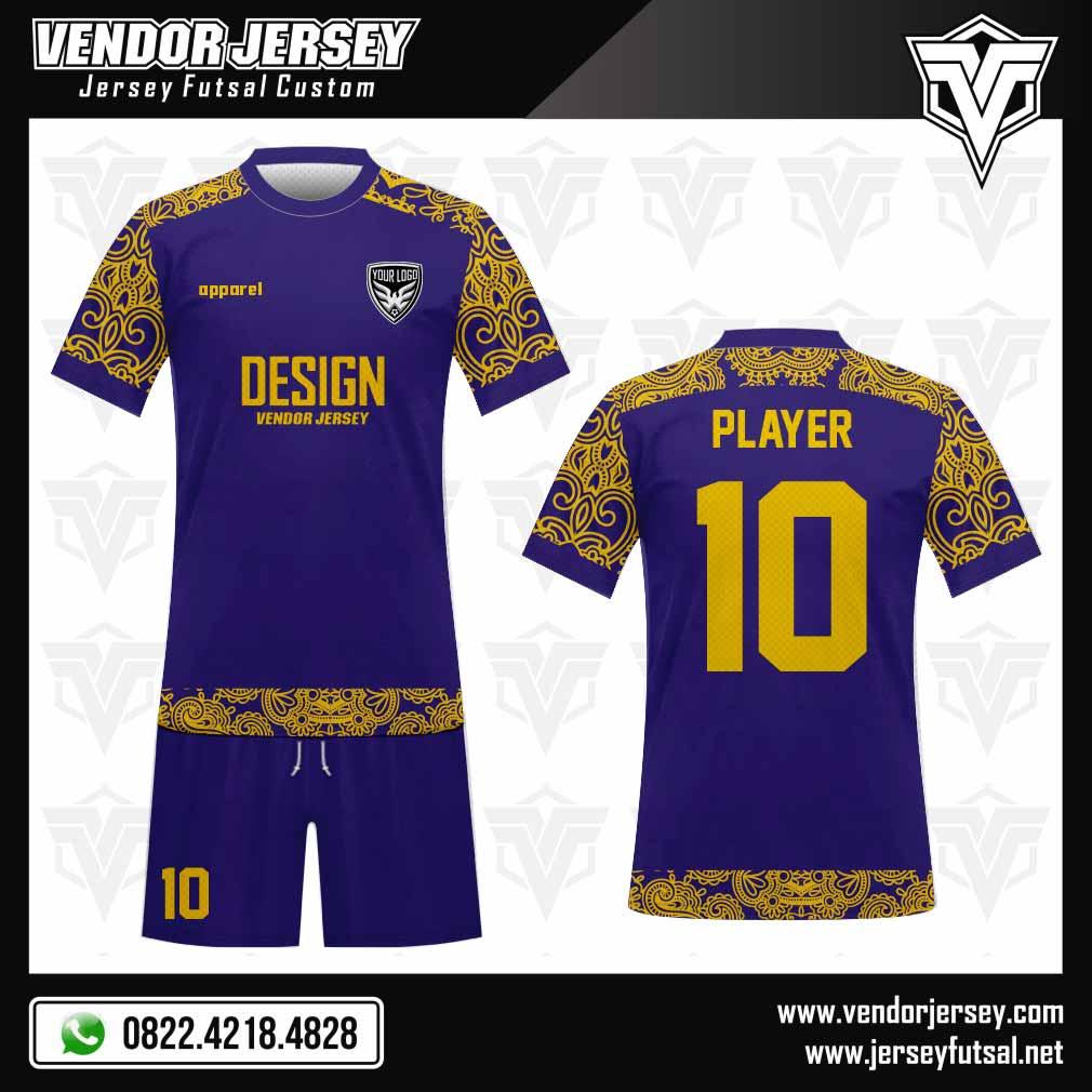 desain baju seragam sepak bola motif batik