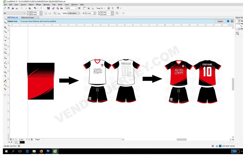 membuat jersey futsal desain sendiri