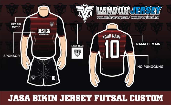 Contoh Desain Kostum Futsal Terkeren Nan Simple
