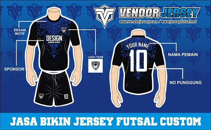 Macam Desain Kaos Futsal Lusinan Untuk Tim Kesayangan